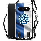 DeinDesign Carry Case kompatibel mit Samsung Galaxy S10 Handykette Handyhülle zum Umhängen MSV Duisburg Fahne Fussball Bundesliga