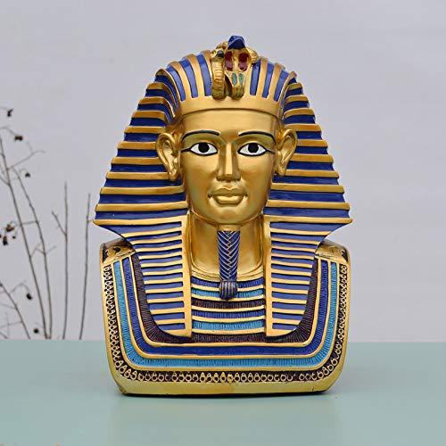 ZSQQSCL Escultura Estatua,Faraón Egipcio Tutankamón Estatua Pirámide Egipcia Esfinge Religioso Cristo Carácter Egipcio Decoración del Hogar Regalo