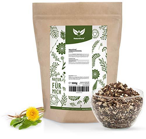 Raíz de diente de león NaturaForte 500g - Té de diente de león, suelto, calidad medicinal, té de hierbas tradicional, 100% natural y sin aditivos, secado y probado en laboratorio