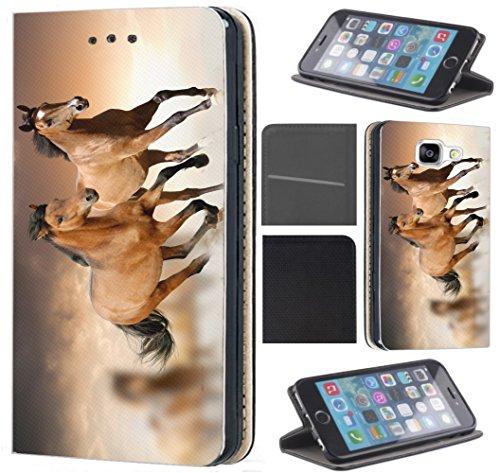 Hülle für Samsung Galaxy A20e A202F Schutzhülle Flipcover Handyhülle Handycover Coverfix4 Handy Case 1304 Pferd Pferde Braun Hülle für Samsung Galaxy A20e A202F