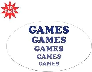 CafePress - Amusement Park 'Games' Gamer Oval Sticker (10 Pk) - Oval Sticker (10-Pack), Bumper Sticker, Car Decal, Euro Oval