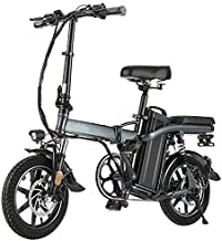 FIIDO L2 Folding EBike, 350W Aluminum Electric Bicycle with Pedal for Adults and Teens, 14