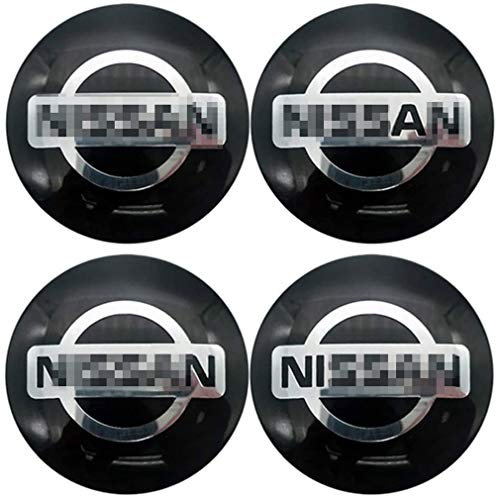 4pcs Auto Radnabe Mittelkappen Für Nissan X Trail Qashqai Tiida Juke Leaf 56 mm, Auto Emblem Abzeichen Reifen ZubehöR Mittelabdeckung Aufkleber Dekor