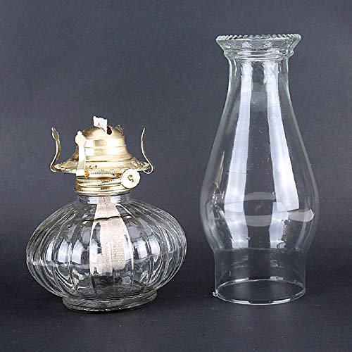 Petroleumlampe, Retro Nostalgie Sturmlaterne, Einfache Glas Handwerk-Lampen-Notbeleuchtung für Hauptbeleuchtungs-Dekoration (35cm)