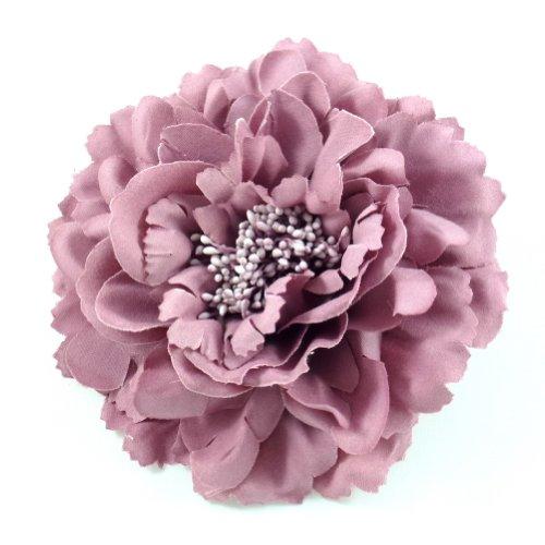 rougecaramel - Accessoires cheveux - Broche fleur/pince cheveux mariage 11cm - vieux rose