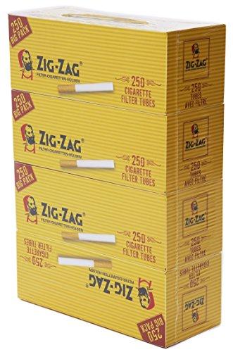 OCB 9008 Zig Zag Zigaretten Hülsen, Cigarette Tubes 4 x 250 Stück