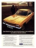 Iposters Ford Capri Gold Auto Werbung Druck 40 X 30 CMS 16