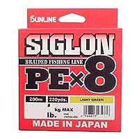 サンライン(SUNLINE) ライン シグロン PEx8 200m ライトグリーン 0.4号 6LB J