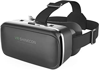 VR Headset,Virtual Reality Headset,VR SHINECON VR Goggles for Movies, Video,Games - 3D VR Glasses for Android,iPhone and Other Phones Within 4.7-6.2 inch