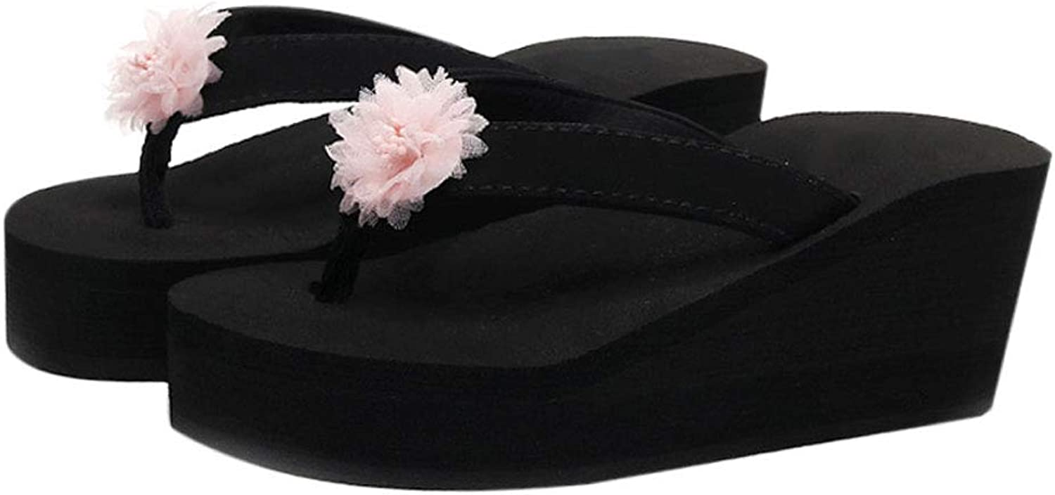 HUYP Flip-Flop Fashion Wear Beach shoes Cute Outdoor Ladies Sandals and Slippers (Size   7 US)