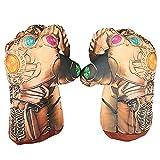 SPOTOR Iron Man Boxing Gloves Capitán América Guantes Soft Llush Iron Man Cosplay Superhéroe Guantes de Esponja, Iron Man Toys Regalos para niños Thanos Guantes Capitán América Guantes de Boxeo