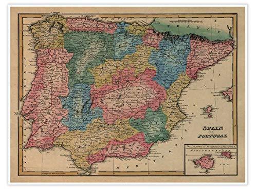 mapa españa de la marca Gallery Prints