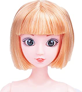 Digood 12 Inch Nude Doll Body with Head, Coerni 12 Jointed Can Be Changed Makeup and Dress DIY Toy (E)