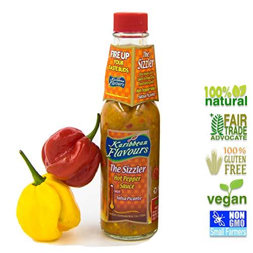 Karibbean Flavours Der Sizzler West Indian Scotch Bonnet Hot Pepper Sauce 150ml