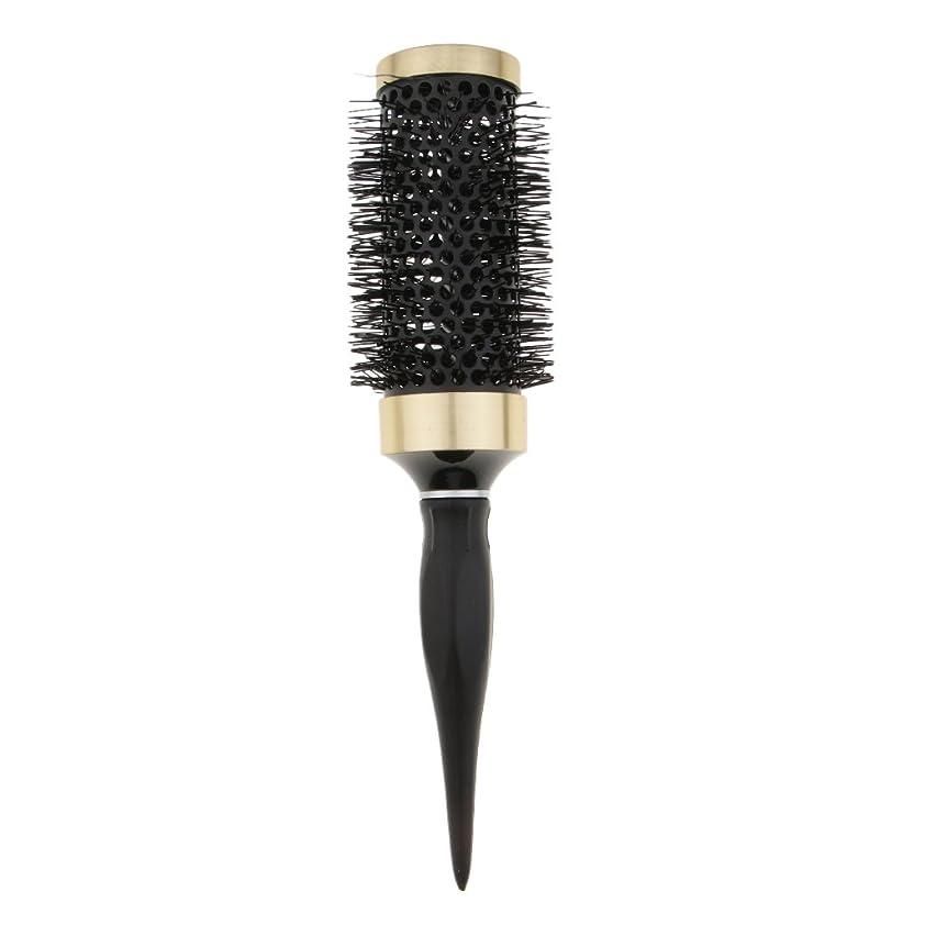 動的弾力性のある業界ヘアブラシ 櫛 ロールブラシ ブロー カール 巻き髪 耐熱仕様 全5サイズ - 45mm