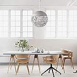 Lampe suspendue ajourée Lustre Tete Simple Lampe sculptée en fer forgé pour salle à manger...