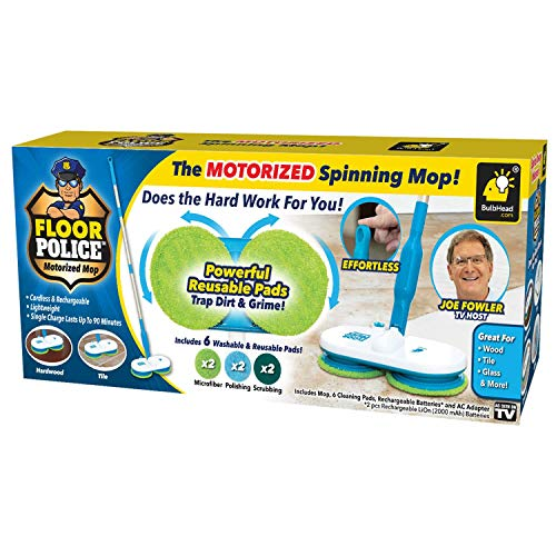 Original As Seen On TV Floor Police Mop with Motorized Dual Spinning...