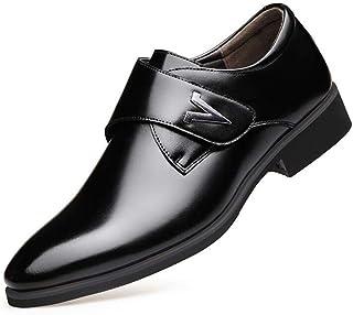 Leather Shoes Men's New Business Dress Men's Shoes England Casual Buckle Low Shoes