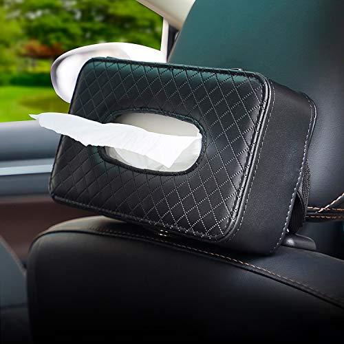 N/A/A Car Tissue Holder ,Sun Visor Storage Cases for Universal Auto,Napkin Holder PU Tissue Holder for car