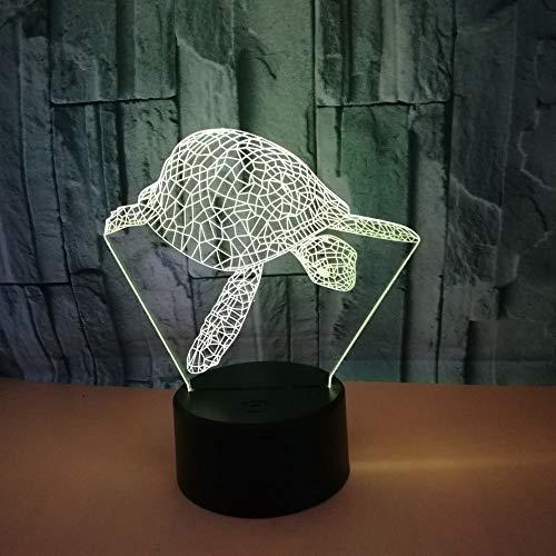 Luz de noche LED 3D, lámpara de ilusión 3D con pantalla táctil con control remoto, lámpara de mesa USB que cambia de 7 colores, regalos perfectos para niños (Color : 4)