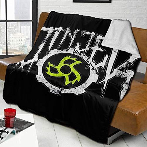 372 Jin-Jer Logo Manta de lana de cordero ultra suave manta de cama de 50 x 40 pulgadas