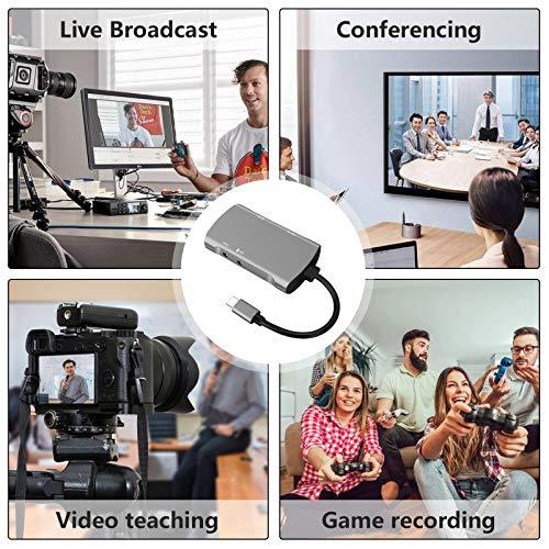 Video Capture Card 4k GLUBEE Hdmi Capture Card 1080p 60fps Switch USB hdmi Adapter für Gaming, Streaming, Cam link, Aufnahmegerät TV für Windows Mac OS System von PS4, Switch, Xbox