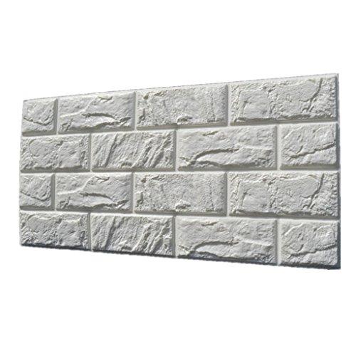 Generic 3D pared de ladrillo pegatinas Selfadhesive panel de la etiqueta del papel pintado para Blanco