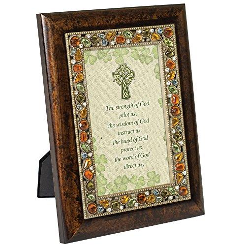 Cottage Garden The Strength Wisdom Hand of God Emerald Jeweled 4x6 Photo Frame Plaque