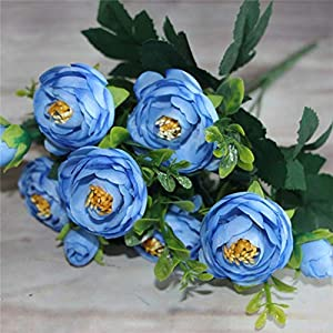 Silk Flower Arrangements Genericb Vintage Artificial Peony Silk Camellia Flowers Bouquet Wedding Home Decoration