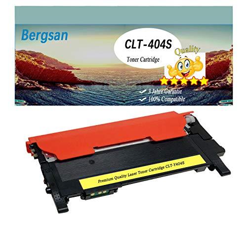 Bergsan 1 Cartouche de Toner jaune XL compatible pour Samsung CLT-Y404S pour Samsung Xpress C430 C430W C480 C480W C480FN C480FW Xpress SL-C430 SL-C430W SL-C480 SL-C480W SL-C480FN SL-C480FW