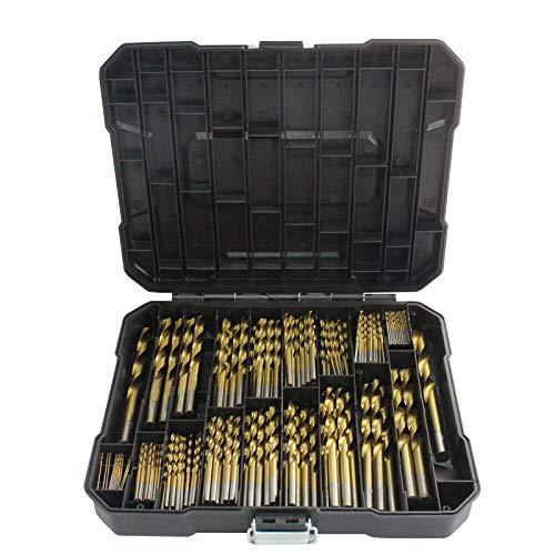 Honeyhouse Juego de brocas de metal 99/230 piezas, surtido de brocas para metal HSS rectificado, taladro de mano de punta abierta, juego de brocas profesionales