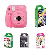 Fujifilm Instax Mini 9 Kamera, flamingo rosa mit Film Box
