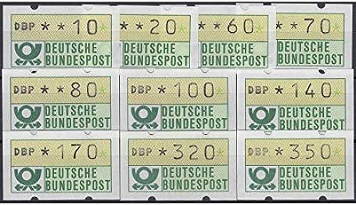 Goldhahn BRD Bund ATM 1.2 hv TS4 postfrisch  10 20 60 70 80 100 140 170 320 350 PFG. Briefmarken für Sammler