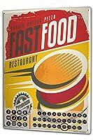 カレンダー Perpetual Calendar Food Restaurant Fast Food Tin Metal Magnetic