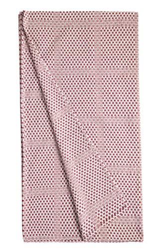 BOHORIA® Tagesdecke Überwurf Mediterranean Cottage | 100prozent Baumwolle | Oeko-Tex® | Bettüberwurf Wohndecke Picknickdecke Wendedecke Sofadecke mit Muster | extra-groß 210 x 240 cm (Mahogany)