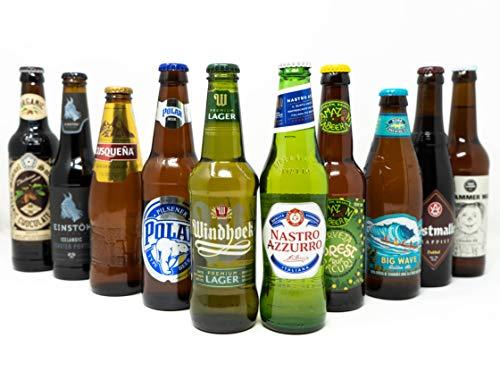 10 Biere aus 10 Ländern - Bierweltreise Set - Variation aus außergewöhnlichen Bieren aus aller Welt