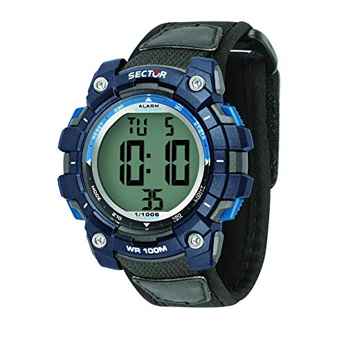 Sector No Limits Herren Digital Uhr mit Nylon Armband R3251520002