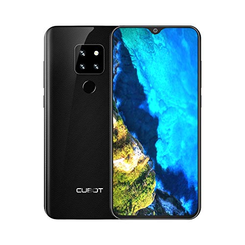 CUBOT P30 Smartphone 4G LTE, Telecamera Posteriore (AI) 20MP+ 12MP+ 8MP Fotocamera selfie 13MP Octa-Core 4GB RAM+ 64GB ROM 6,3' FHD Display (1080 * 2340) Dual Nano SIM 4000mAh Android 9.0 -Nero