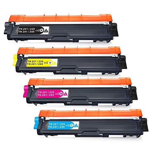 CMYBabee Cartucho de Tóner Compatible Repuesto para Brother TN241 TN245 para DCP-9020CDW DCP-9015CDW HL-3140CW HL-3150CDW HL-3170CDW MFC-9130CW MFC-9140CDN MFC-9330CDW MFC-9340CDW (4 Paquete)
