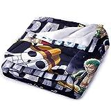 Sweetundrro17 Anime One Piece Luffy Zoro Chopper Kuscheldecke, Flanell Flauschige Decke, Kuschelige Wohndecke/Sofadecke/Reisedecke(125 x 200 cm)