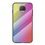 Grandcaser Motorola Moto G5S Plus Étui,Ultra-Mince Advanced Fibre Carbone Texture Gradient Glass...