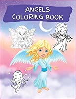 Angels Coloring Book: Activity Book for Children, 20 Angel Coloring Designs, Ages 2-4, 4-8. Easy, large picture for coloring with angels. Great Gift for Boys & Girls.
