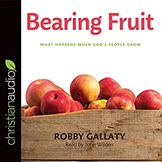 Bearing Fruit     What Happens When God's People Grow              By:                                                                                                                                 Robby Gallaty                               Narrated by:                                                                                                                                 John Wilders                      Length: 4 hrs and 9 mins     4 ratings     Overall 4.0