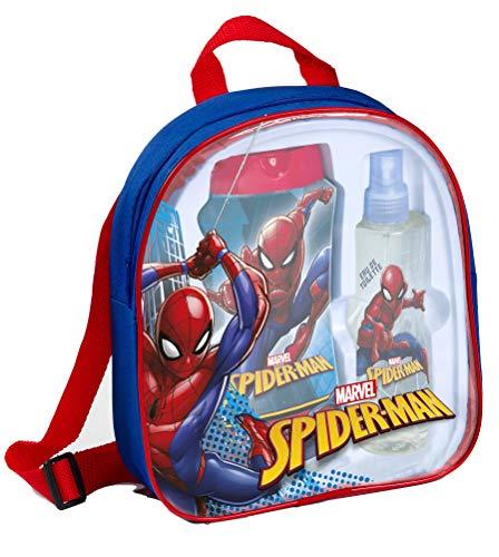 Marvel The Amazing Spiderman Coffret Cadeau Eau de Cologne, poche pour, bain moussant et shampooing 2 en 1, 1er Pack (1 x Lot de 3)