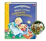 Buchspielbox Mi primera biblioteca infantil: Mi primera historia de Gutenacht-Geschichten + pegatinas infantiles, libro infantil a partir de 2 años.