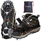 Vodche Traction Cleats Crampons Ice Snow Grips for Boots Shoes Anti-Slip 19 Spikes