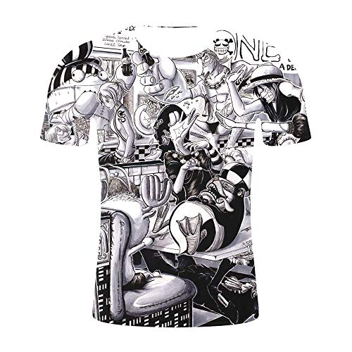Herren Kurzarm T-Shirt Ruffy3D gedruckt inspiriert Comic Teenager Anime T-Shirt-B_S