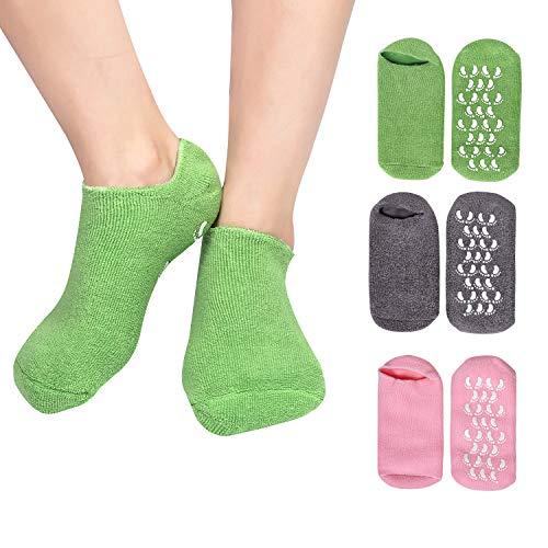 Feuchtigkeitsspendende Socken 3 Paar Ultraweiche SPA-Socken Gelgefütterte Fußpflegebehandlung zur Reparatur von weich Gewordenen, Rissigen Füßen (Set 1)