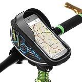 Lixada Bolsa de Manillar Bolsa de Tubo Superior de Bicicleta Soporte para Teléfono Celular con Pantalla Táctil Bolsa de Marco Frontal