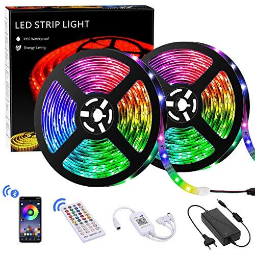 LED Strip 10m, Teaisiy Led Streifen RGB Led Lichterkette mit App Bluetooth Kontroller Sync zur Musik und 40 Tasten IR Regler LED Band , Anwendung für Schlafzimmer, Party und Weihnachtsdekoration